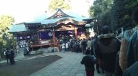 Première visite de l'année au temple.